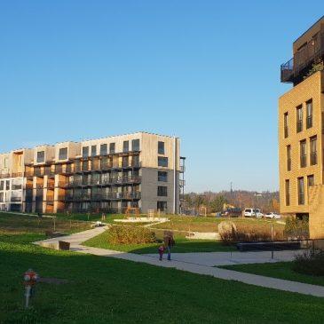 Vzorčna hiša sNES v stanovanjski soseski Zeleni gaj na Brdu, gradnja zaključena v letu 2016