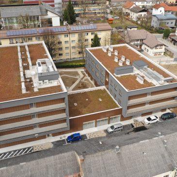 Objekt Skupnost za mlade Gerbičeva - slika iz zraka