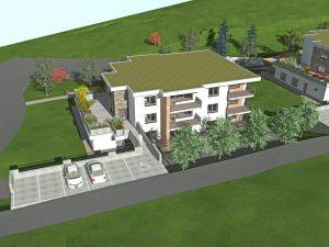 Na sliki je eden od treh večstanovanjskih objektov oskrbovanih stanovanj, ki bo zgrajen v občini Šmarje pri Jelšah