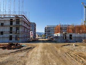 Gradbišče večstanovanjskih stavb- Dečkovo naselje, Celje